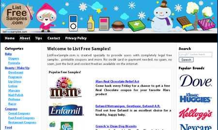 List Free Samples